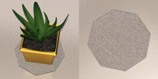 Подставка под цветы «Многоугольник»