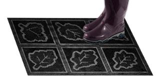 Резиновый коврик «Листья»