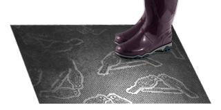 Резиновый коврик «Птицы»