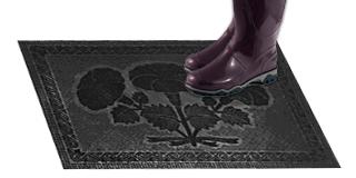 Резиновый коврик «Цветы»